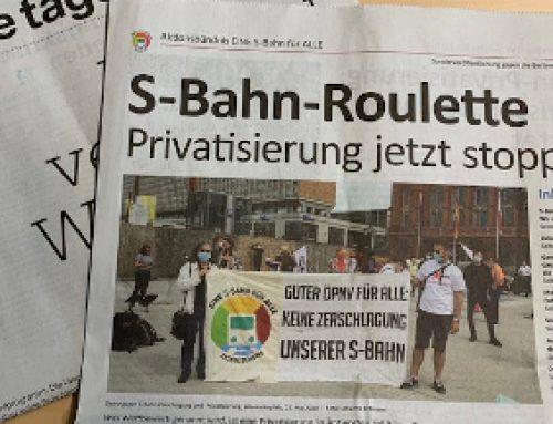 Jetzt bestellen: Zeitung gegen S-Bahn-Privatisierung